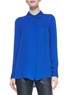 Classic Long-Sleeve Silk Blouse   Classic Long-Sleeve Silk Blouse
