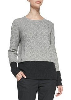 Colorblock Cable Sweater   Colorblock Cable Sweater