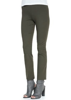 Cropped Stretch-Knit Pull-On Leggings   Cropped Stretch-Knit Pull-On Leggings