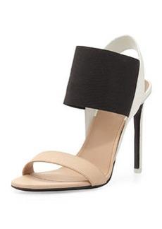 Vince Gaudin Colorblock Leather Sandal, Nude/Black/Bone