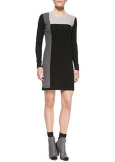 Geometric Intarsia Cashmere Long-Sleeve Sweaterdress   Geometric Intarsia Cashmere Long-Sleeve Sweaterdress