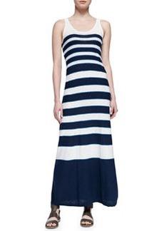 Graduating-Stripes Sleeveless Maxi Dress   Graduating-Stripes Sleeveless Maxi Dress