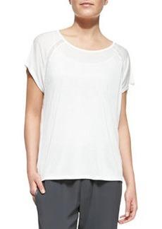 Jersey Mesh-Inset Raglan-Sleeve Top   Jersey Mesh-Inset Raglan-Sleeve Top