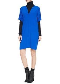Jersey Short-Sleeve V-Neck Dress   Jersey Short-Sleeve V-Neck Dress
