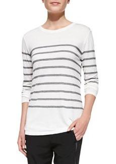 Jersey Striped Long-Sleeve Top   Jersey Striped Long-Sleeve Top