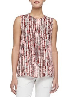 Jewel-Neck Tribal Dot Shell   Jewel-Neck Tribal Dot Shell