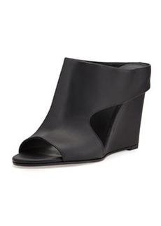 Vince Kaya Leather Wedge Mule Slide, Black