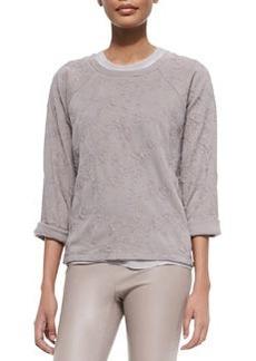 Knit Jacquard Pullover Sweatshirt   Knit Jacquard Pullover Sweatshirt