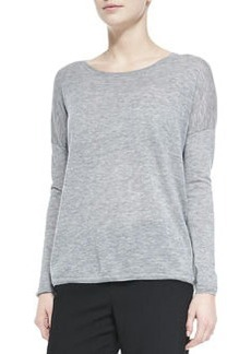 Lightweight Knit Crewneck Sweater   Lightweight Knit Crewneck Sweater