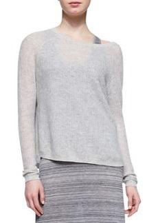 Lightweight Loose Cashmere Sweater, Stonewash   Lightweight Loose Cashmere Sweater, Stonewash