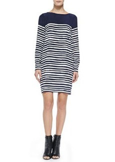 Long-Sleeve Marker Stripe Dress   Long-Sleeve Marker Stripe Dress