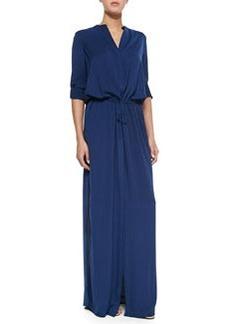 Long-Sleeve Maxi Shirtdress   Long-Sleeve Maxi Shirtdress