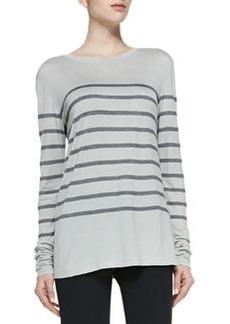 Long-Sleeve Striped Top, Concrete/Coastal   Long-Sleeve Striped Top, Concrete/Coastal
