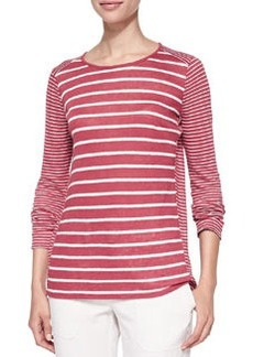 Long-Sleeve Tee W/ Mixed Stripes   Long-Sleeve Tee W/ Mixed Stripes