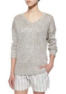 Metallic V-Neck Sweater   Metallic V-Neck Sweater