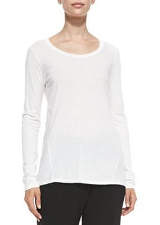 Mixed-Fabric Long-Sleeve Tee   Mixed-Fabric Long-Sleeve Tee