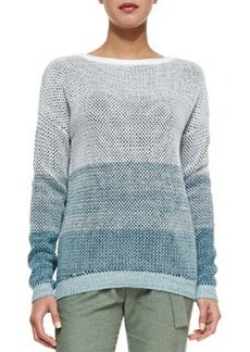 Ombre Open-Stitch Knit Sweater   Ombre Open-Stitch Knit Sweater