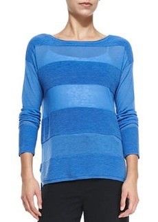 Ottoman Tonal-Stripe Sweater   Ottoman Tonal-Stripe Sweater