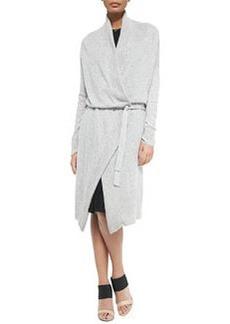 Oversize Knit Tie-Waist Cardigan   Oversize Knit Tie-Waist Cardigan
