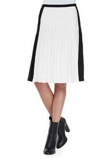 Pleated Georgette Colorblock Skirt   Pleated Georgette Colorblock Skirt