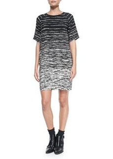 Printed Raglan-Sleeve Shift Dress   Printed Raglan-Sleeve Shift Dress