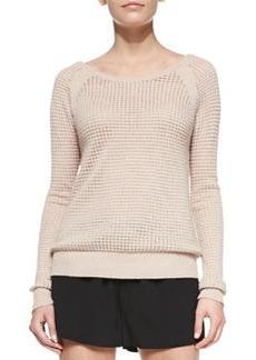 Raglan Thermal Cashmere-Blend Sweater   Raglan Thermal Cashmere-Blend Sweater