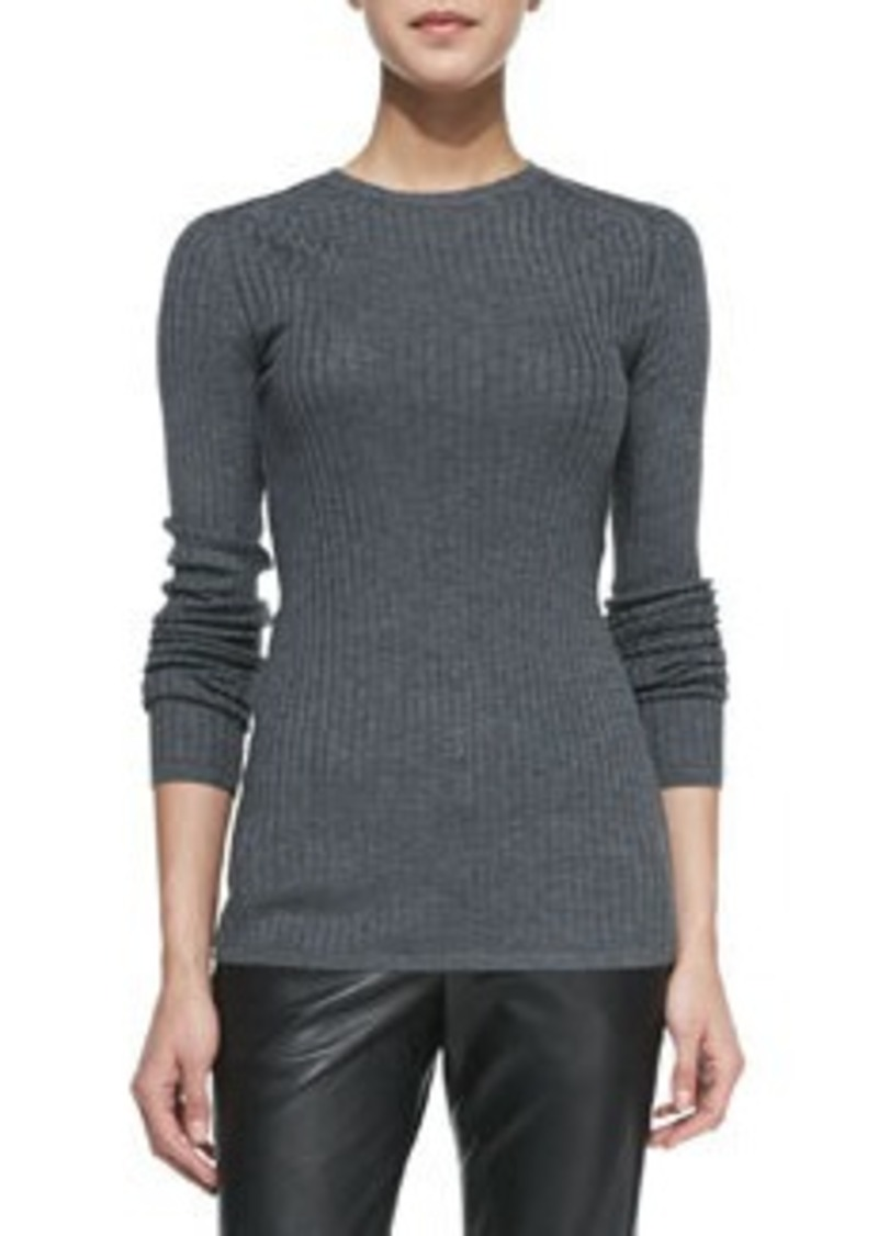 Vince Ribbed Knit Crewneck Sweater Ribbed Knit Crewneck Sweater Sweaters - ...