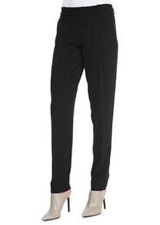 Satin-Striped Tuxedo Trousers, Black   Satin-Striped Tuxedo Trousers, Black