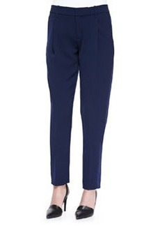 Satin-Striped Tuxedo Trousers, Blue Marine   Satin-Striped Tuxedo Trousers, Blue Marine