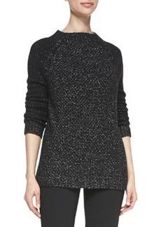 Seed-Stitch Long-Sleeve Wool Sweater   Seed-Stitch Long-Sleeve Wool Sweater