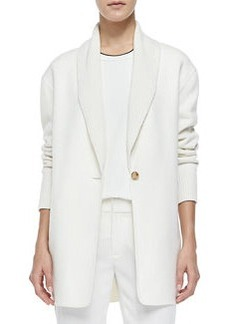 Shawl-Collar Knit Blazer Cardigan   Shawl-Collar Knit Blazer Cardigan
