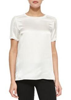 Short-Sleeve Silk Top   Short-Sleeve Silk Top