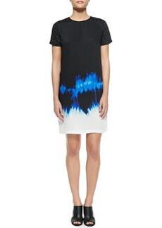 Short-Sleeve Tie-Dye Dress   Short-Sleeve Tie-Dye Dress