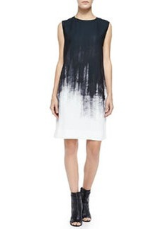 Sleeveless Brushstroke Shift Dress   Sleeveless Brushstroke Shift Dress
