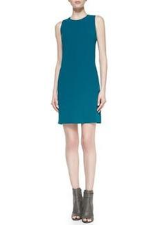 Sleeveless Jewel-Neck Crepe Dress   Sleeveless Jewel-Neck Crepe Dress