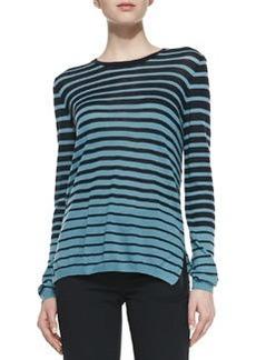 Striped Long-Sleeve Knit Sweater   Striped Long-Sleeve Knit Sweater