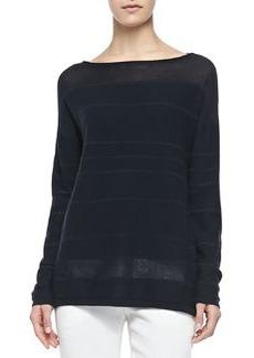 Striped Sweater W/ Ottoman Cuffs   Striped Sweater W/ Ottoman Cuffs