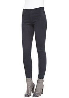 Suede Zip-Ankle Leggings   Suede Zip-Ankle Leggings