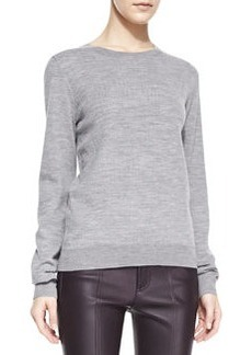 Textured Jacquard Knit Sweatshirt   Textured Jacquard Knit Sweatshirt