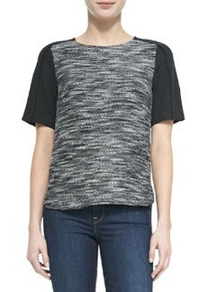 Textured Short-Sleeve Top   Textured Short-Sleeve Top