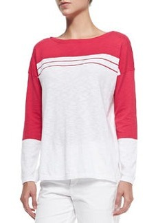 Two-Tone Cotton Slub Top   Two-Tone Cotton Slub Top