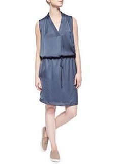 V-Neck Drawstring Dress   V-Neck Drawstring Dress