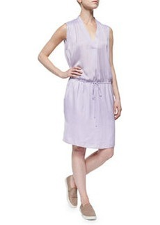 Vince V-Neck Drawstring Dress