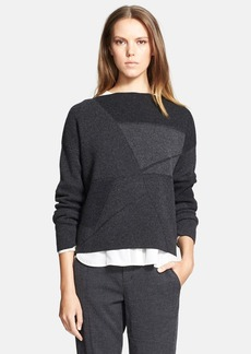 Vince Abstract Wool & Cashmere Boatneck Sweater