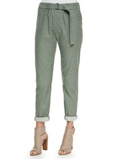 Vince Belted Soft Knit Cuffed Pants
