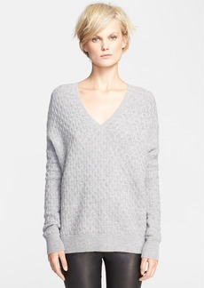 Vince Brick Texture Double V-Neck Sweater