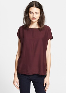 Vince Cap Sleeve Button Tee