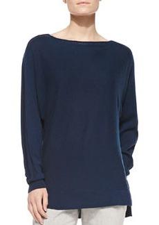 Vince Cashmere Ladder-Stitch Sweater
