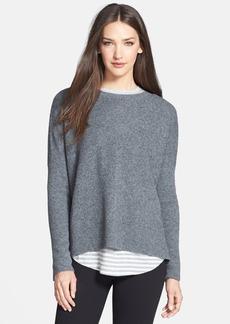 Vince Chevron Knit Crewneck Sweater