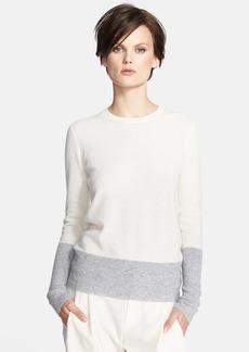 Vince Colorblock Cashmere Crewneck Sweater